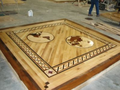 Wood Floor Inlays Medallions