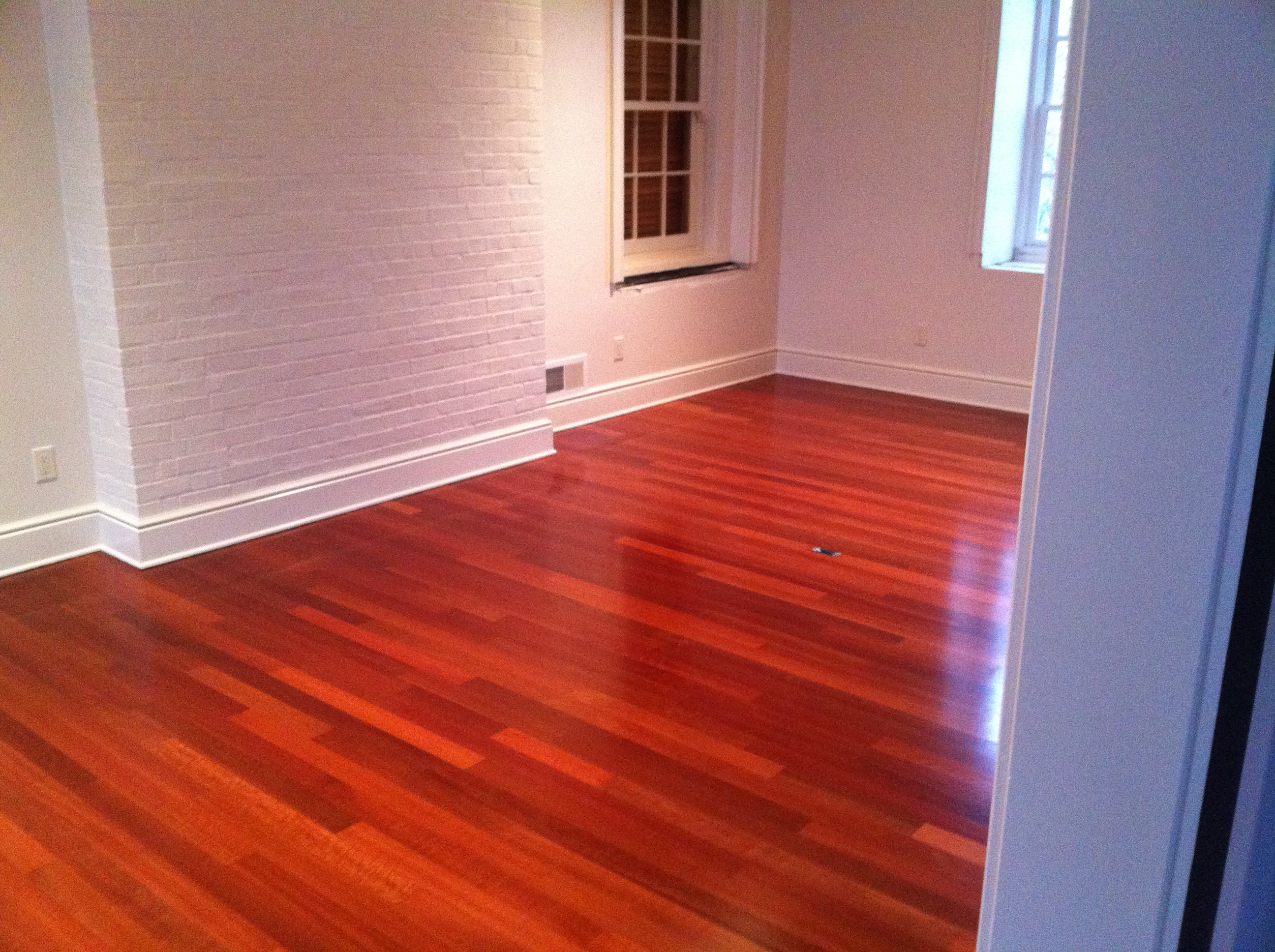 Exotic red wood floor installation menomonee falls wi my for At floor or on floor